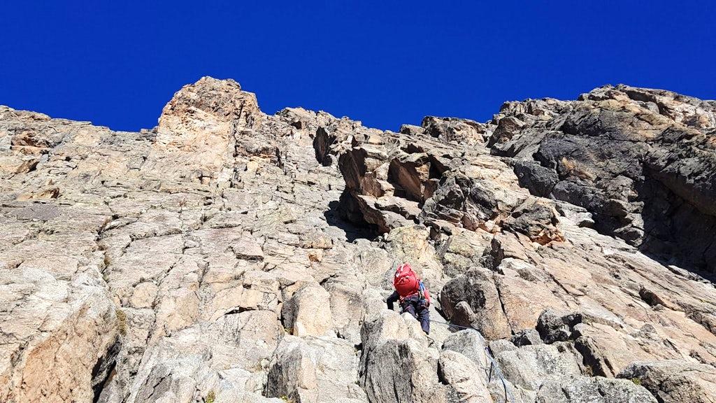 Technické stoupání na Mount Kenya