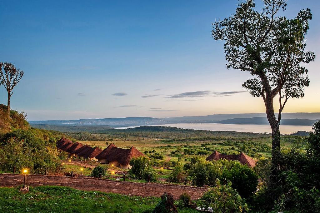 Scenérie národní park Lake Nakuru