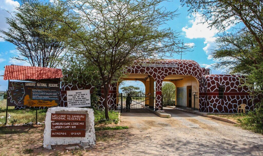 Vstupní brána národní rezervace Samburu