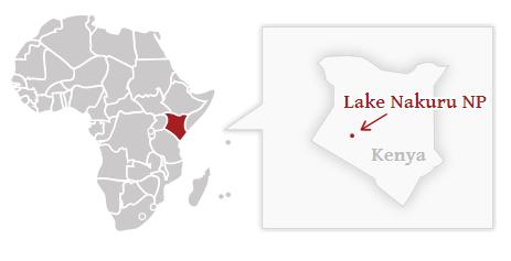 Poloha národního parku Lake Nakuru