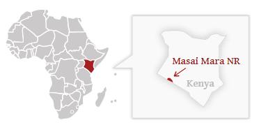 Poloha národního parku Masai Mara