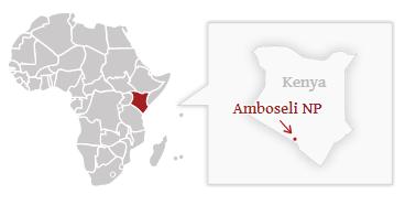 Poloha národního parku Amboseli