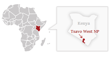 Poloha národního parku Tsavo West