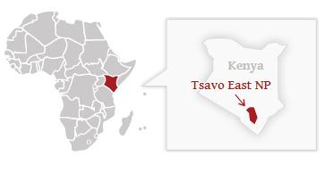 Poloha národního parku Tsavo East