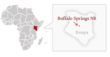 Poloha národního parku Buffalo Springs