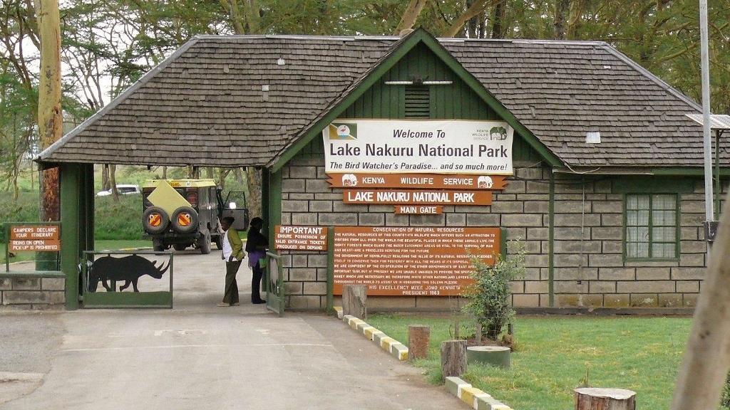 Vstupní brána do národního parku Lake Nakuru