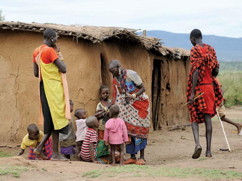 Dovolená v Keni - návštěva Masajů